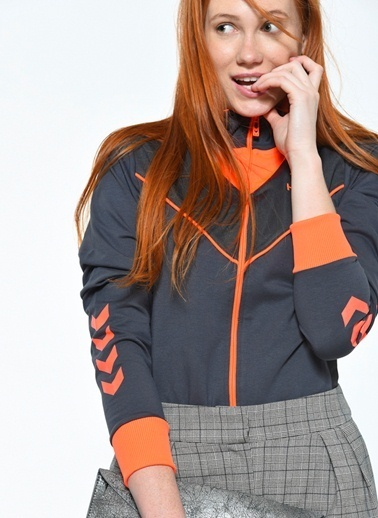 Hummel Fermuarlı Sweatshirt Renkli